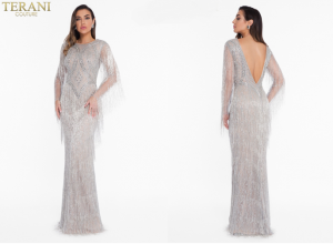 Feel Radiant in Terani Couture 1821GL7441 Evening Dress