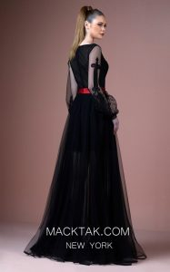 Red Belted Glamorous Gatti Nolli Dress to Ignite the Night for You