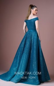 Glittering Blue Dress Manifests A Stunning Disney Princess Look