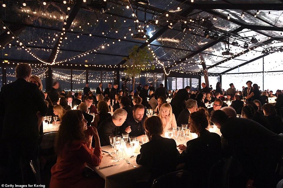 Elle Fanning turns heads alongside glamorous Salma Hayek at the Women In Motion Awards in Cannes 2019