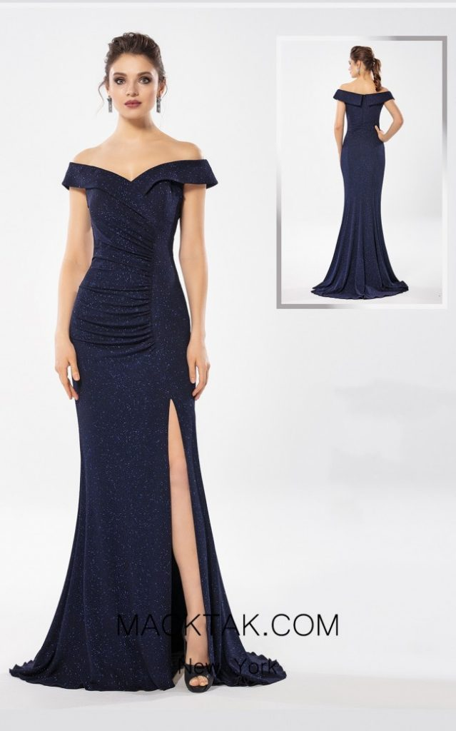 Blue Rays of This Refine So Lady 6037 Dress Adds A Majestic Vibe to Your Silhouette