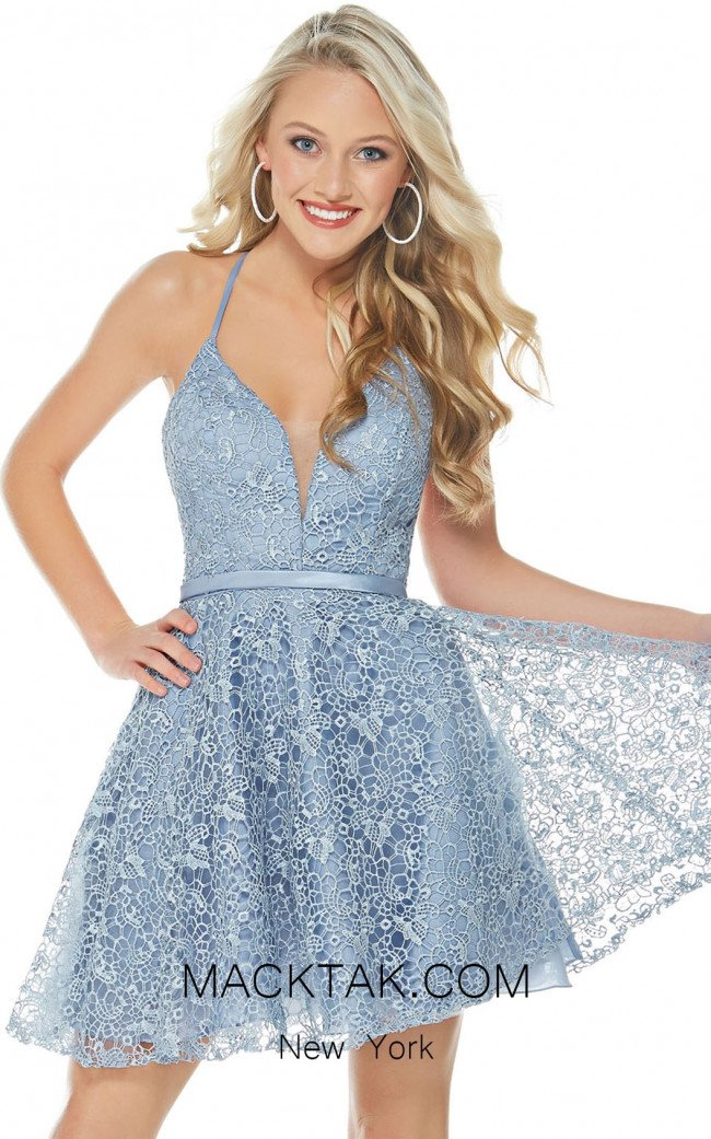 Alyce 1320 French Blue Front Evening Dress