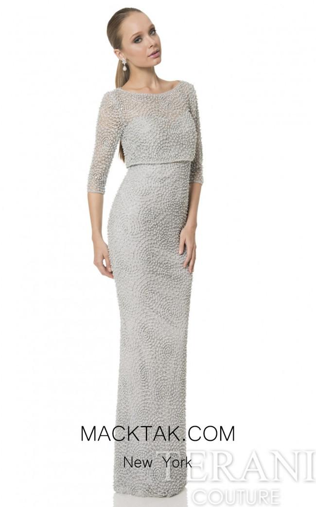 Terani 1611M0630 Silver Dress