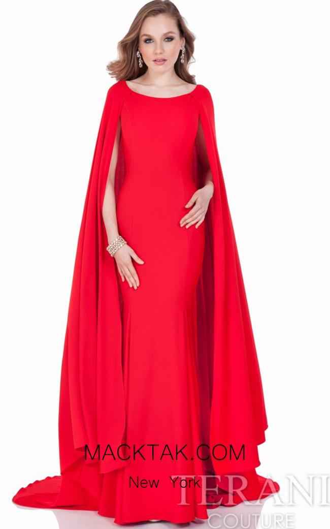 Terani 1622E1581 Red Dress