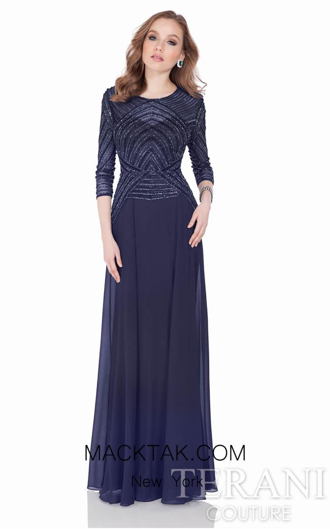 Terani 1623M1860 Navy Dress