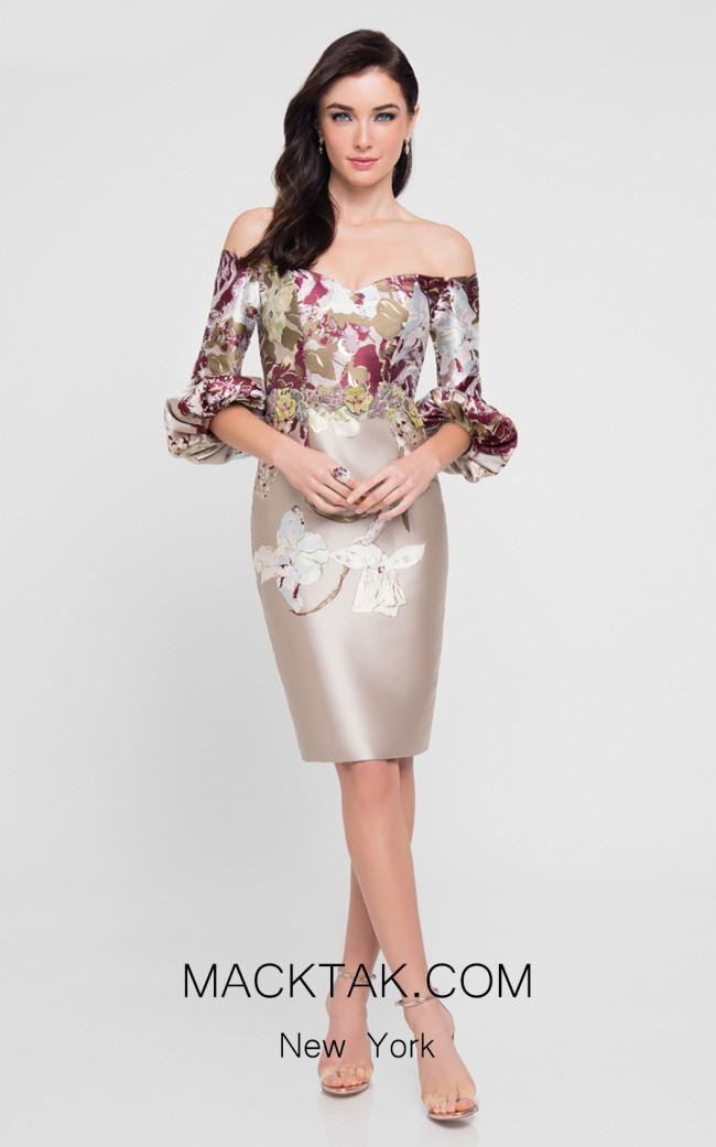 Terani 1811C6022 Champagne Front Dress