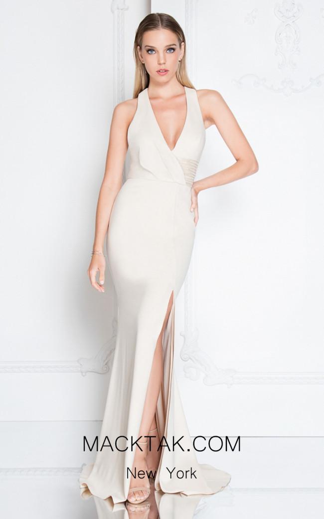 Terani 1811E6103 Bisque Front Dress