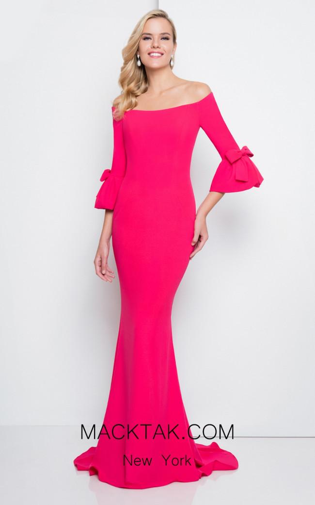 Terani 1811E6135 Fuchsia Front Dress