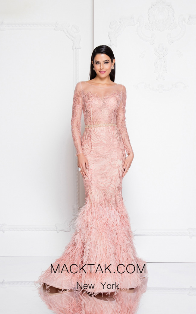 Terani 1811GL6475 Rose Front Evening Dress