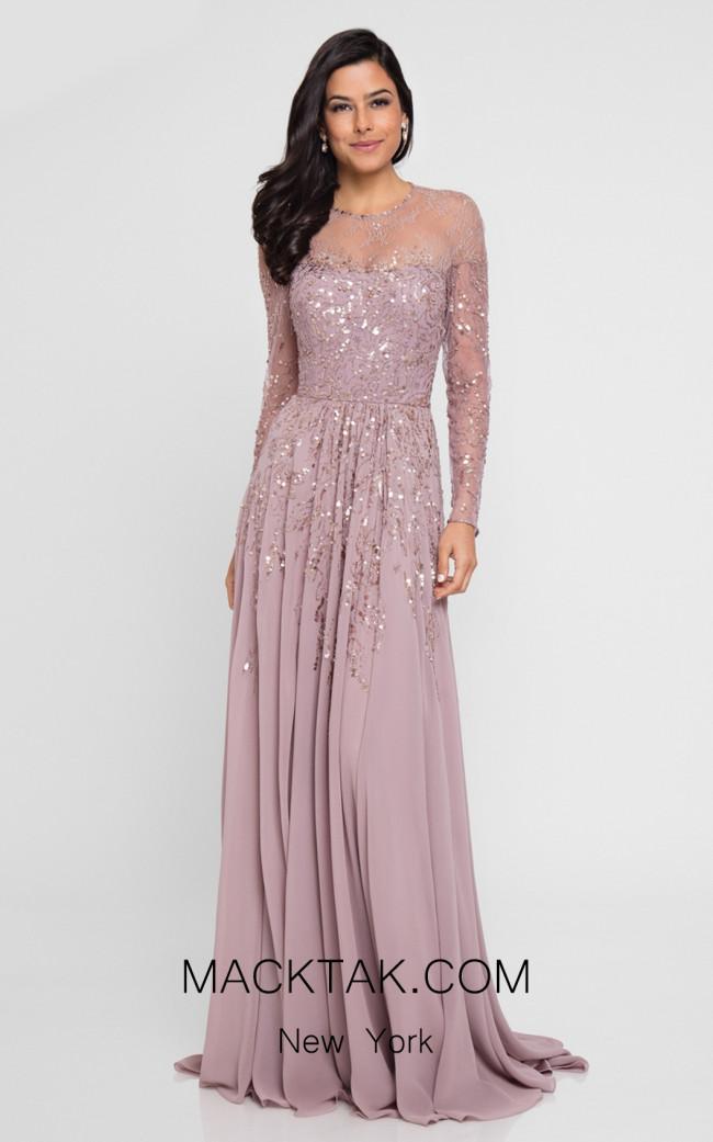 Terani 1811M6551 Rose Gunmetal Front Dress