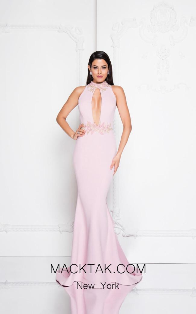 Terani 1812E6290 Rose Front Evening Dress