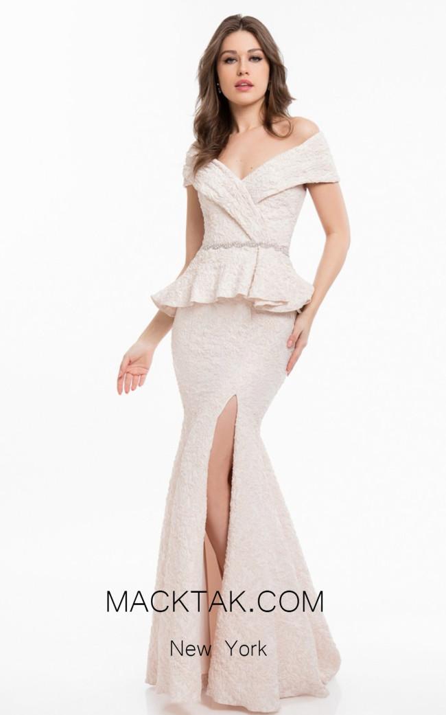 Terani 1821M7561 Blush Front Evening Dress