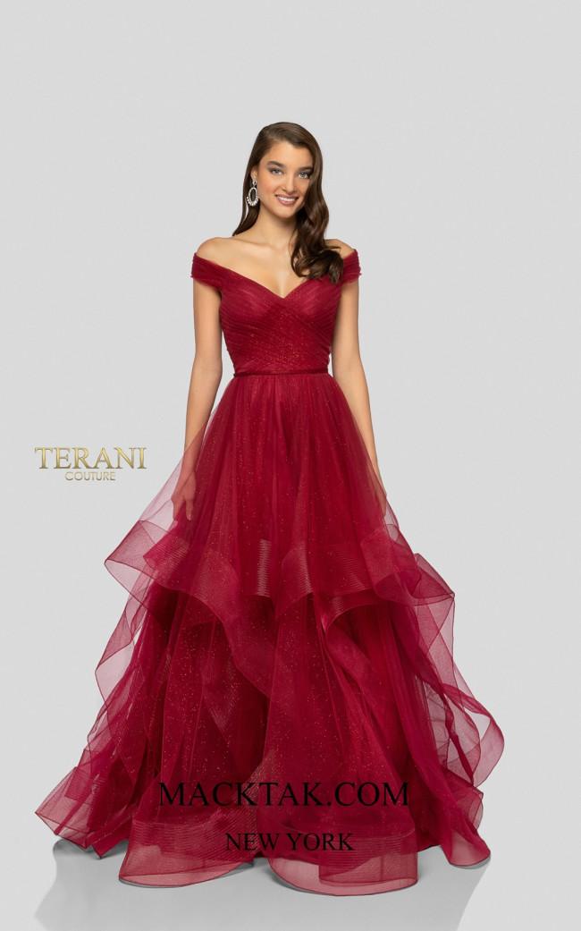Terani 1911P8019 Ruby Front Dress