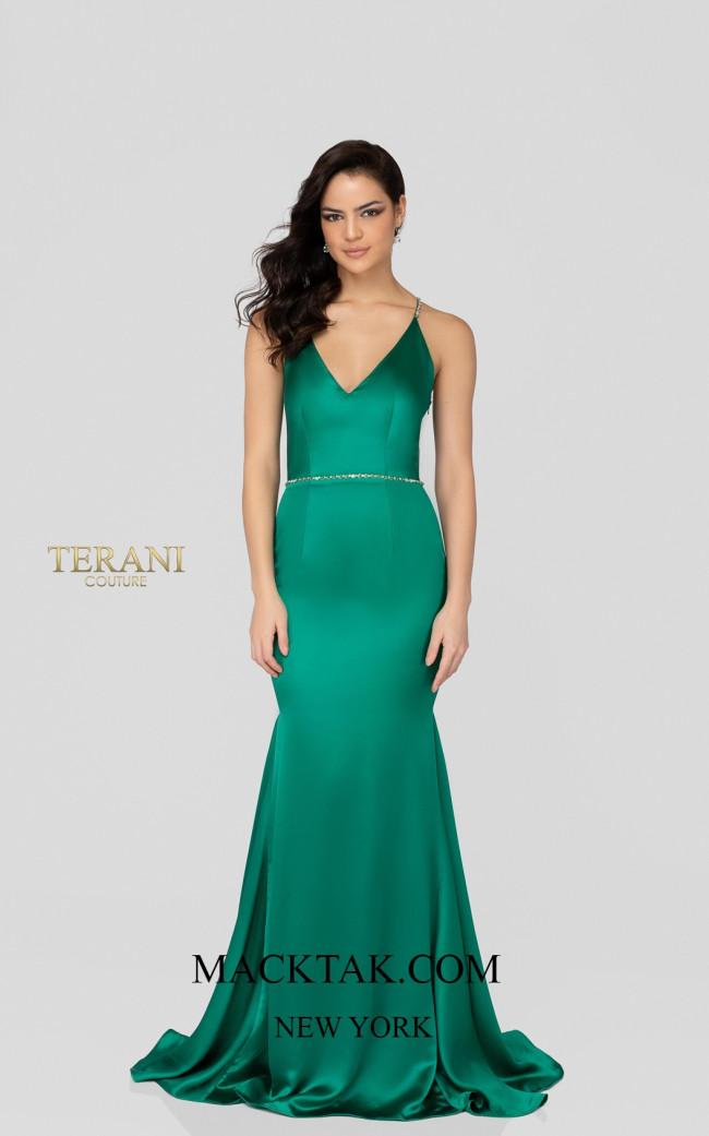 Terani 1911P8171 Emerald Front Dress