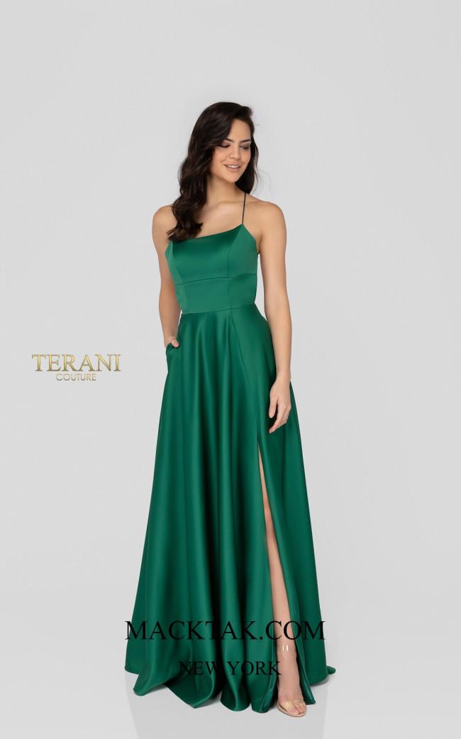 Terani 1911P8178 Emerald Front Dress