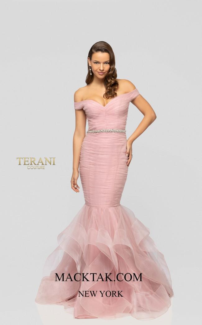 Terani 1911P8366 Rose Front Dress