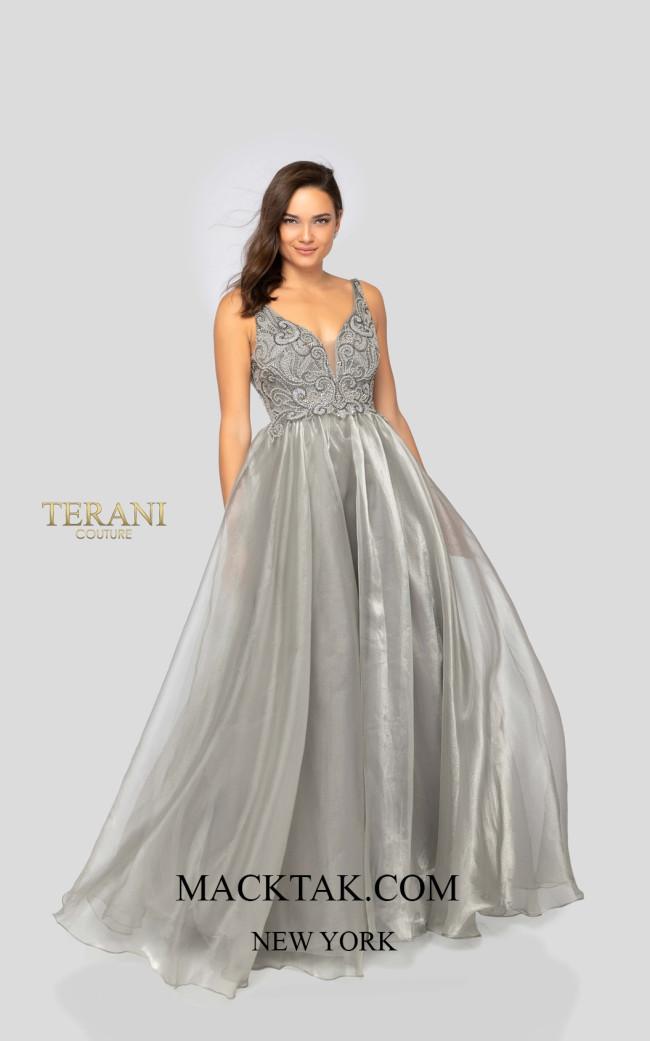 Terani 1911P8538 Silver Front Dress