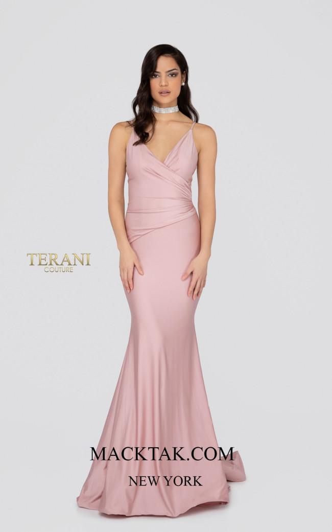 Terani 1912P8280 Blush Front Dress