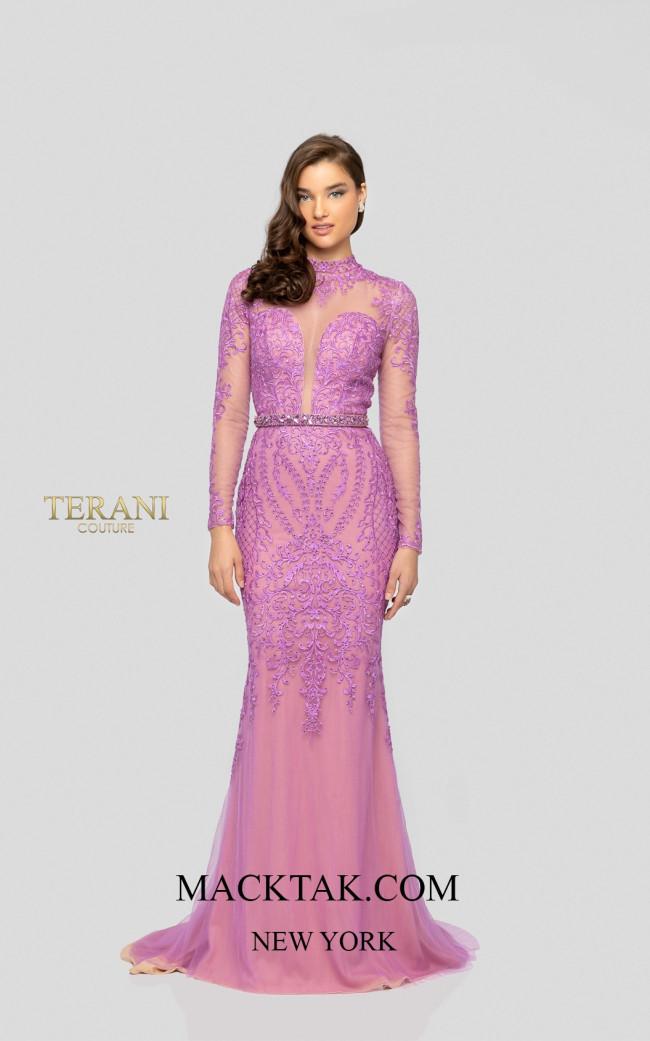 Terani 1913P8310 Lilac Nude Front Dress