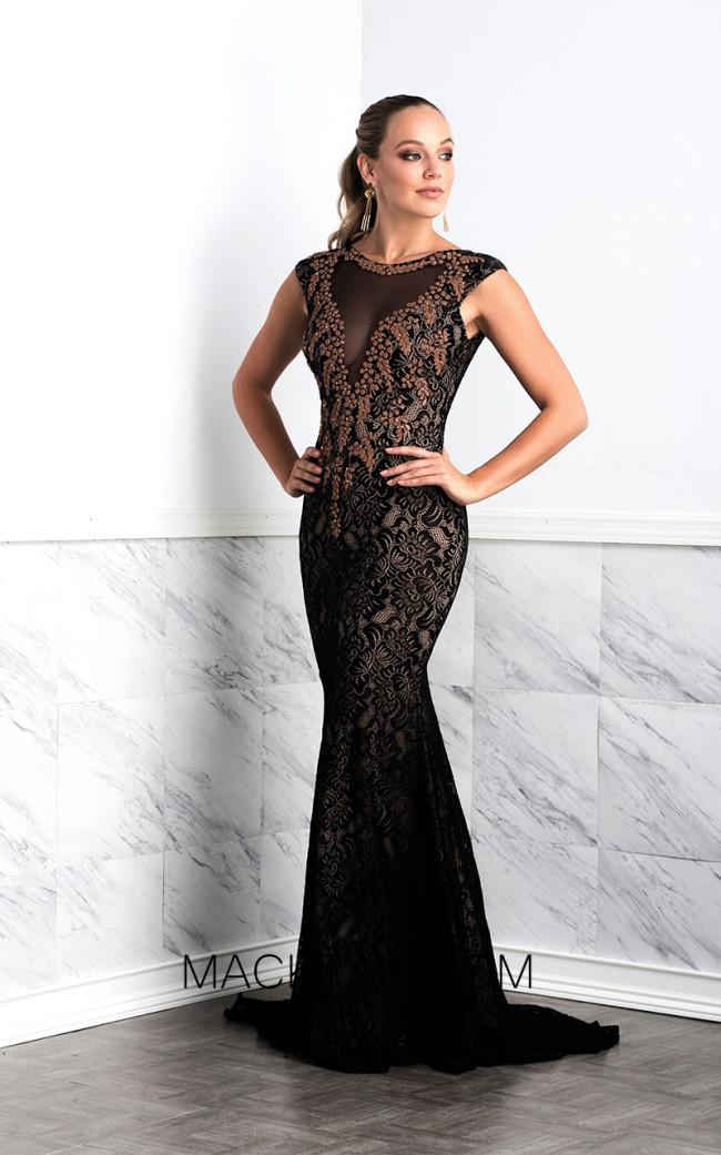 Baccio Sasha Black Front Dress