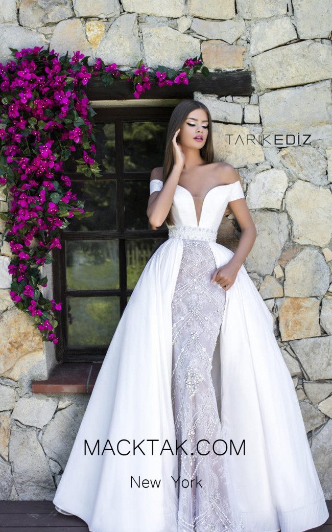 Tarik Ediz 50309 Front Evening Dress