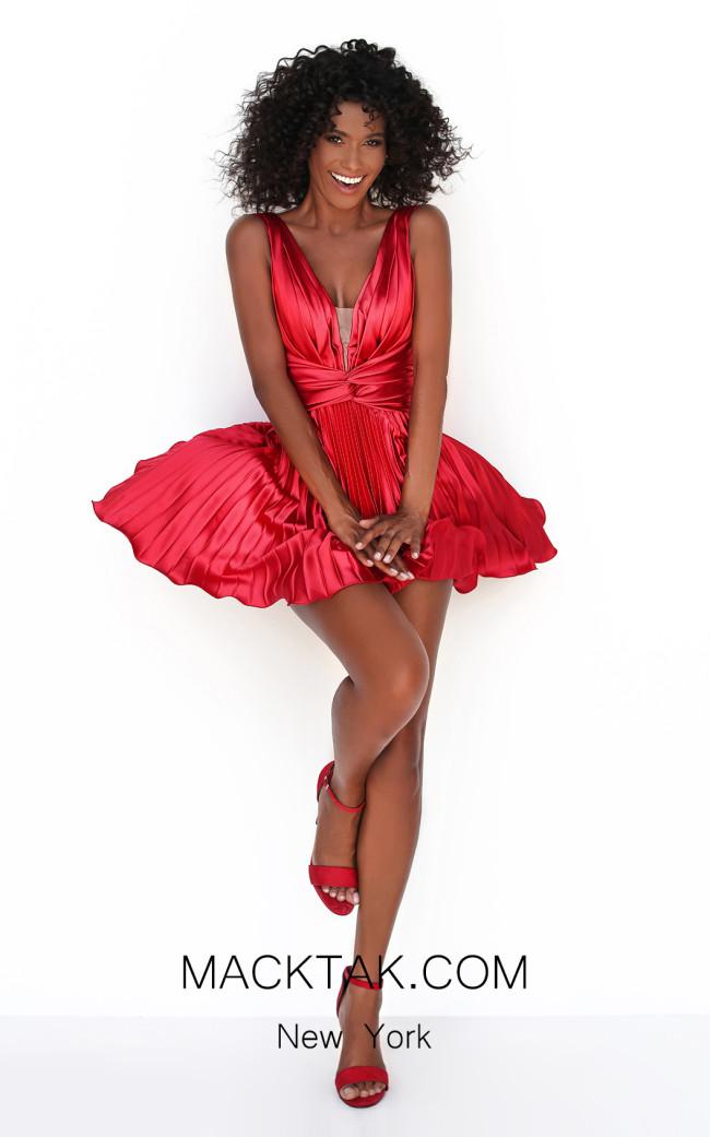 Tarik Ediz 50601 Red Front Dress