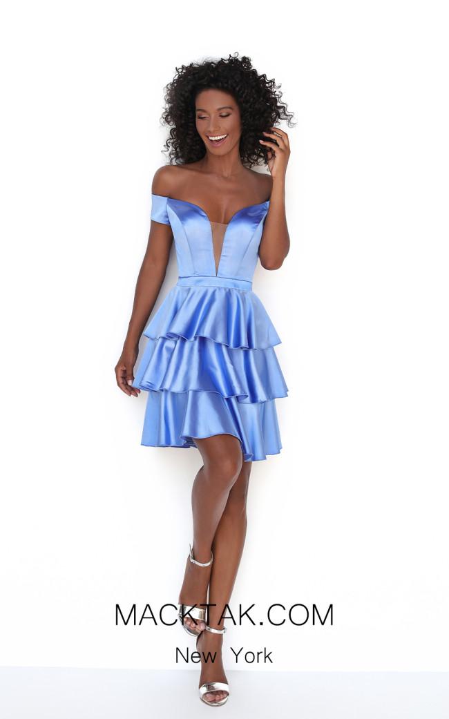 Tarik Ediz 50602 Ice Blue Front Dress