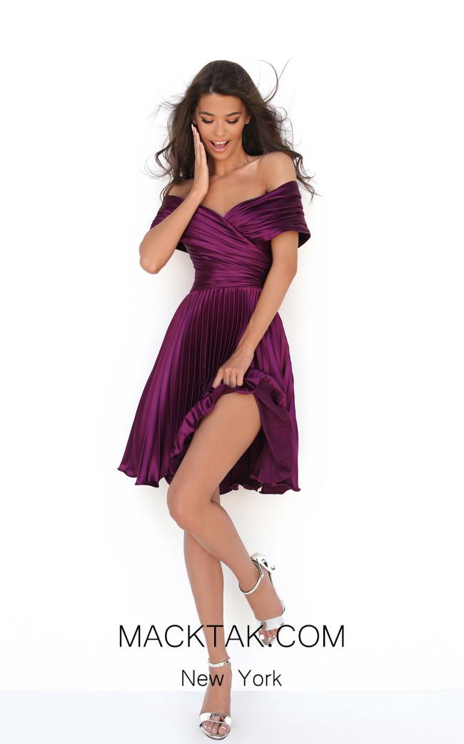 Tarik Ediz 50603 Cherry Front Dress