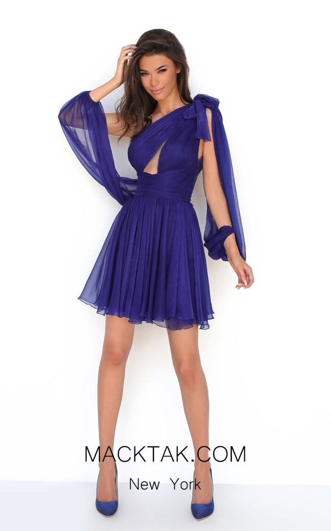 Tarik Ediz 50607 Royal Blue Front Dress