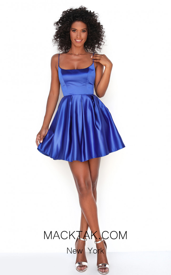 Tarik Ediz 50609 Royal Blue Front Dress