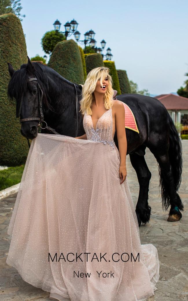 Tarik Ediz 50624 Stone Front Dress
