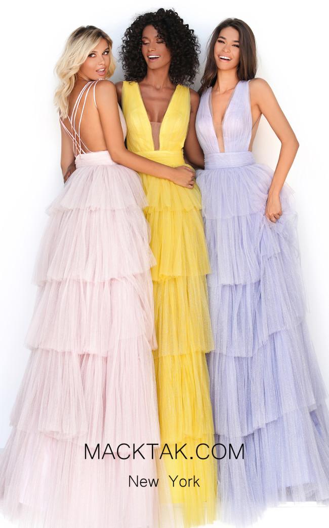 Tarik Ediz 50653 Lilac Front DressTarik Ediz 50653 Front Dress