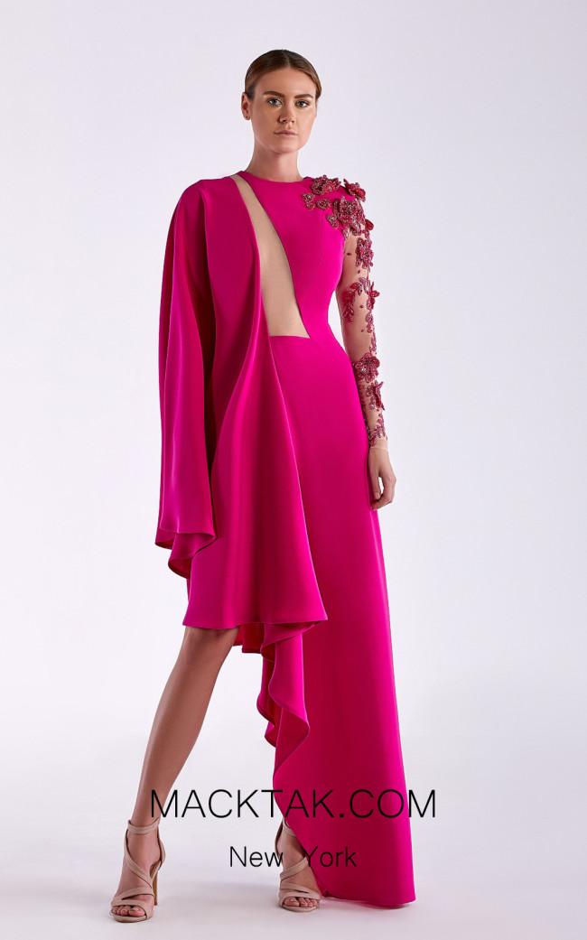 Edward Arsouni SS0509 Fuchsia Front Dress