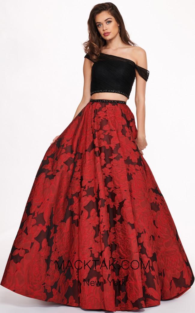 Rachel Allan 6473 Black Red Front