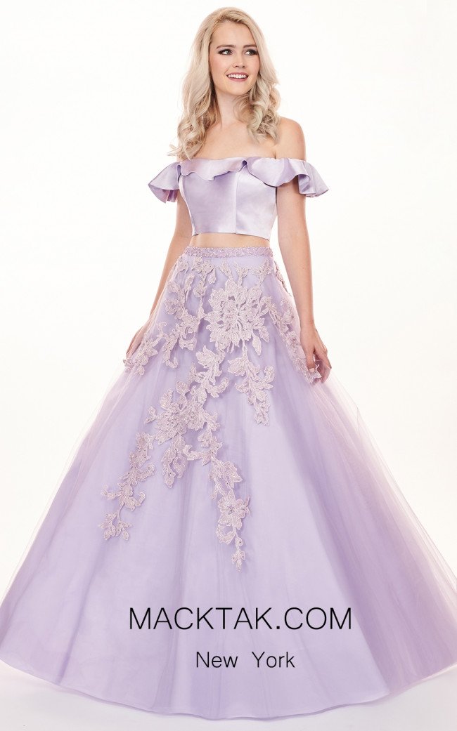 Rachel Allan 6484 Soft Lilac Front