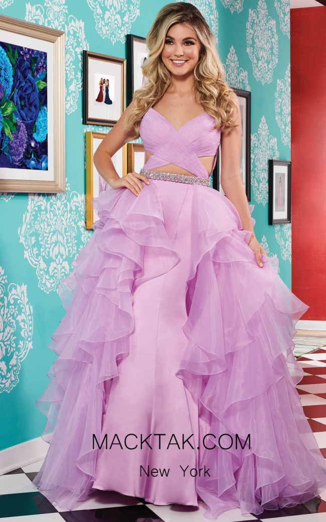 Rachel Allan 6498 Lilac Dress