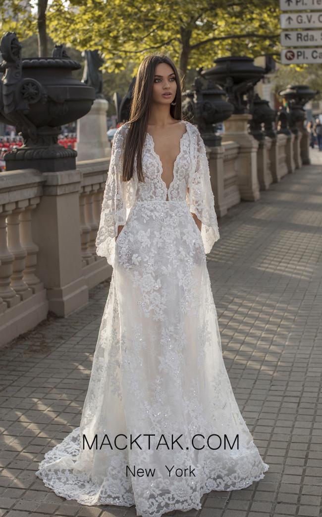 Tarik Ediz 93925 Ivory Front Dress