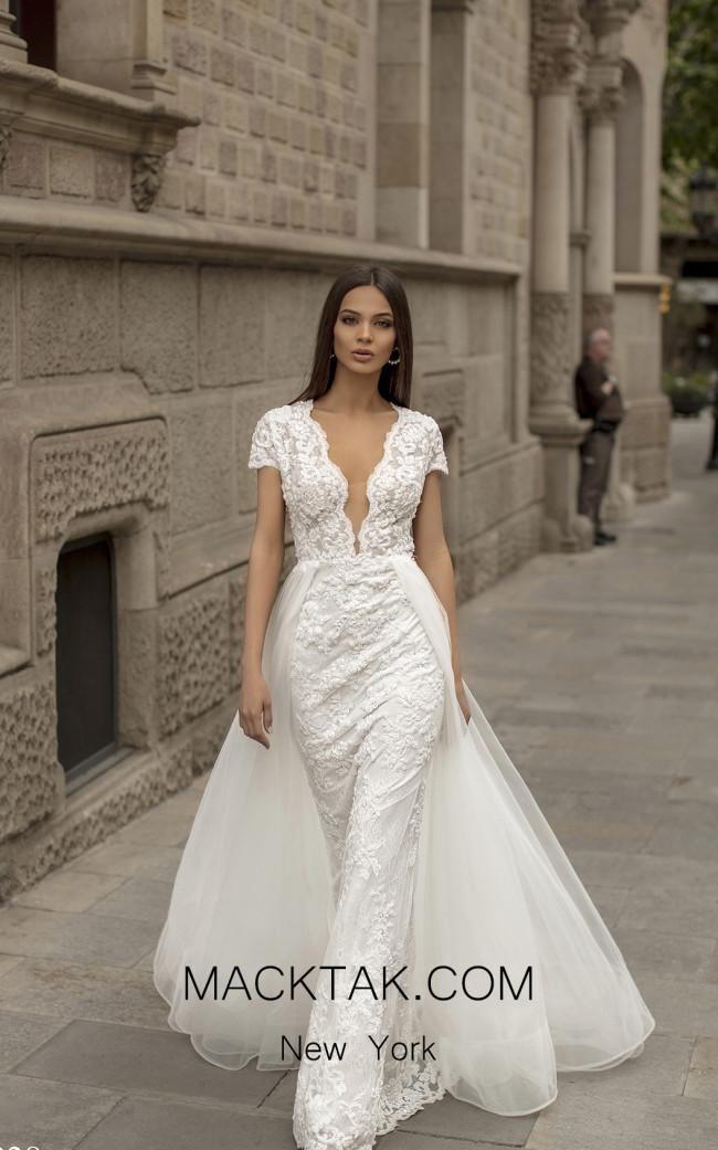 Tarik Ediz 93928 Ivory Front Dress