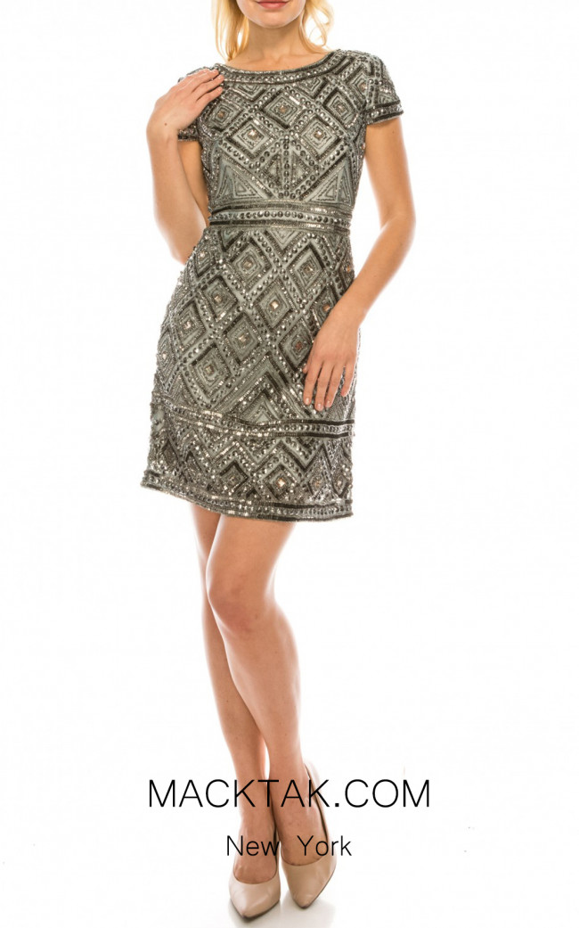 Adrianna Papell 041881410 Slate Front Dress