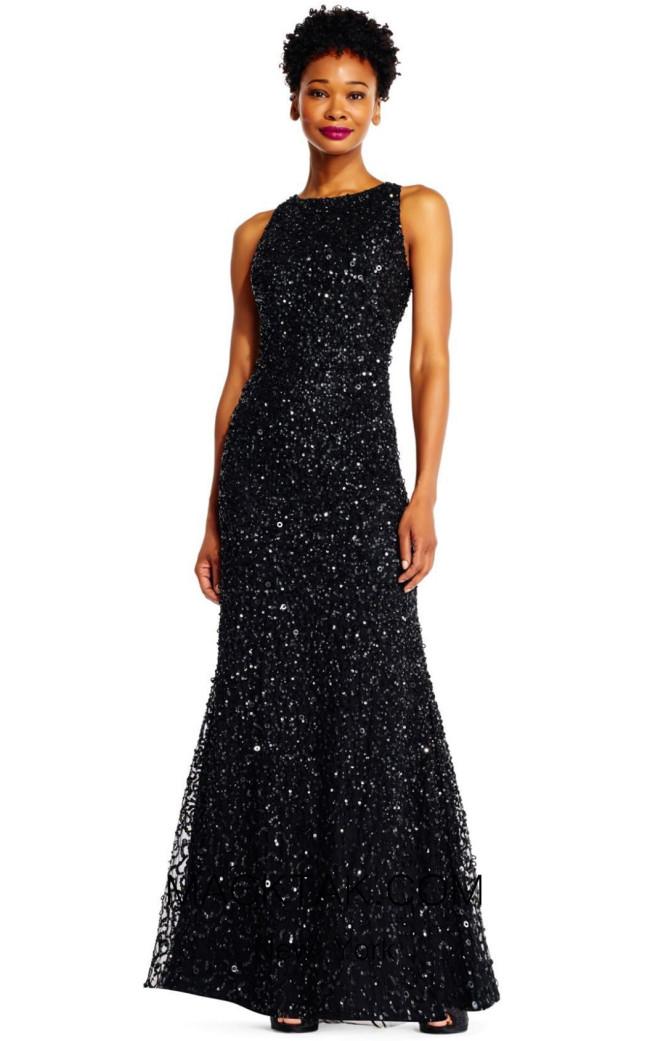 Adrianna Papell AP1E201752 Black Front Dress