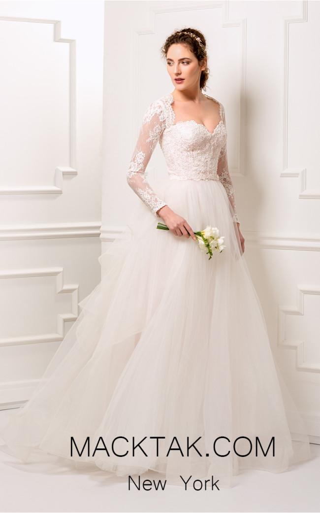 Aida Lorena AL101 White Front Evening Dress