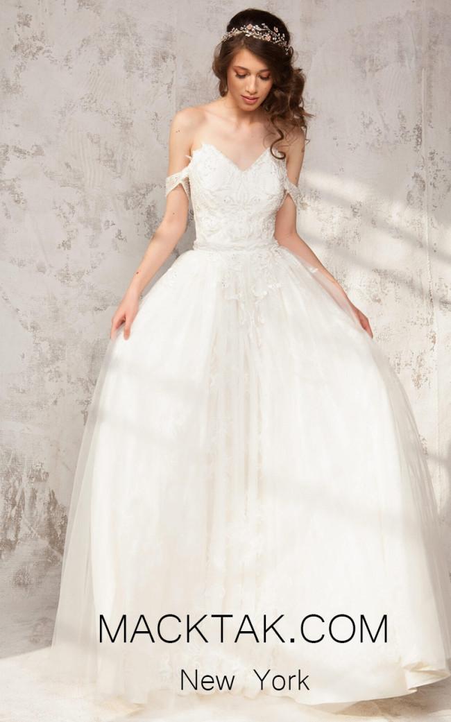 Aida Lorena Patricia White Front Evening Dress