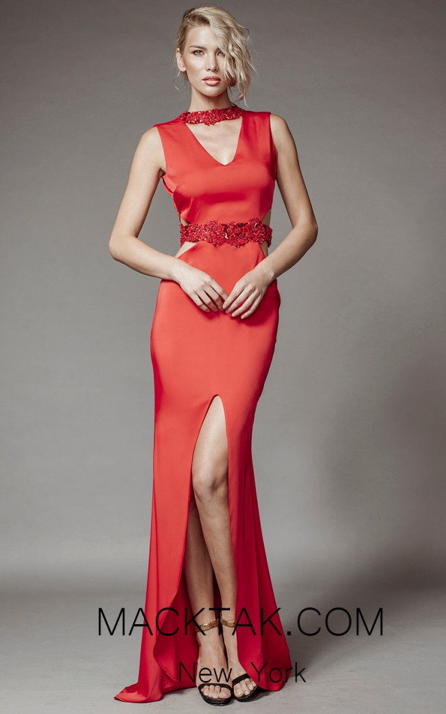 Aida Lorena SL116 Red Front Evening Dress
