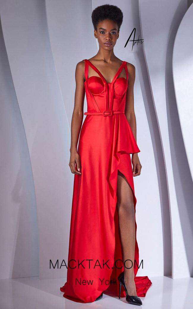 Alchera Y0534 Red Front Dress