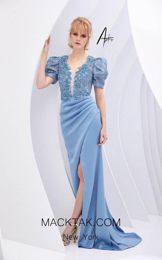Alchera Y0539 Blue Front Dress