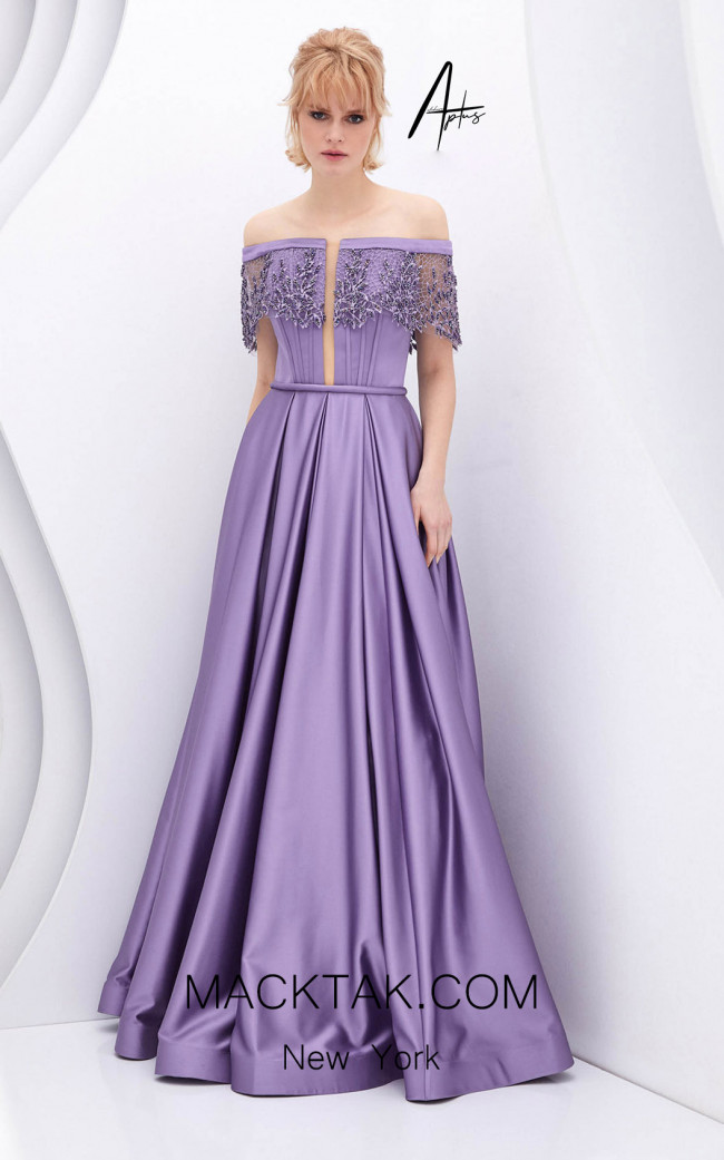 Alchera Y0549 Lilac Front Dress