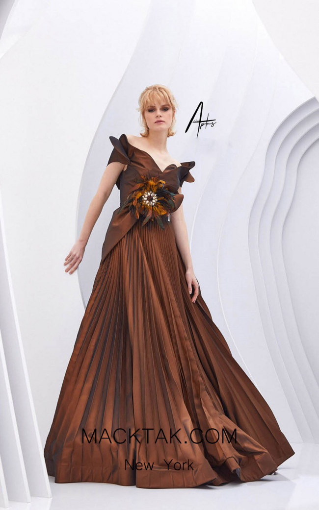 Alchera Y0553 Bronze Front Dress