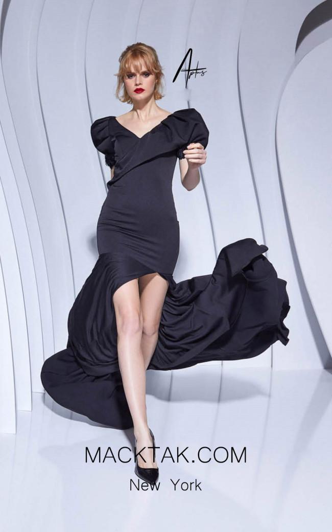 Alchera Y0585 Black Front Dress