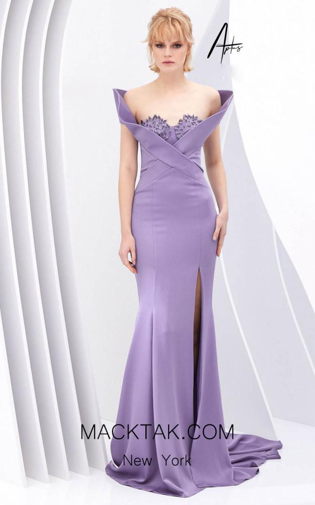 Alchera Y0587 Lilac Front Dress