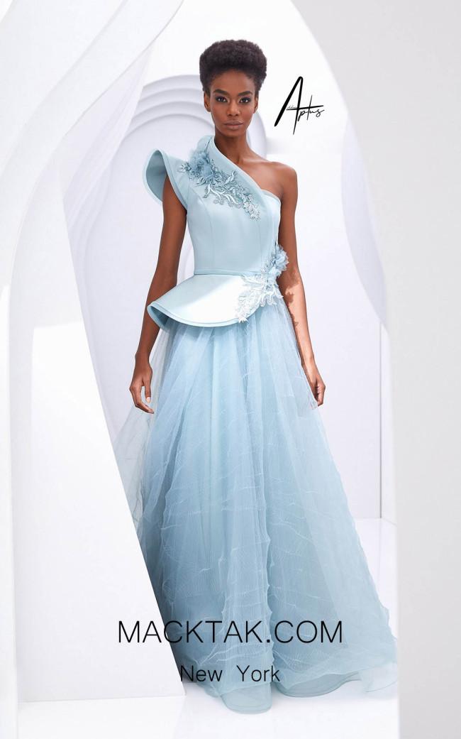 Alchera Y0594 Blue Front Dress